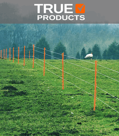 True Products® Plastic Poly Fence Posts